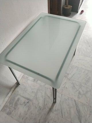 Mesa de cristal del Ikea