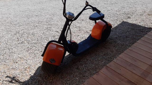 scooter electrico citycoco estilo harley davidson