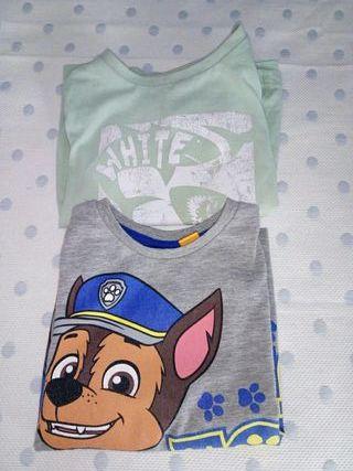 Dos camisetas niño 2-3años