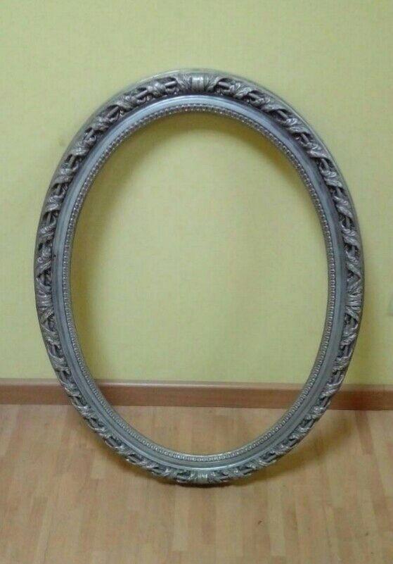 Marco de espejo vintage plateado