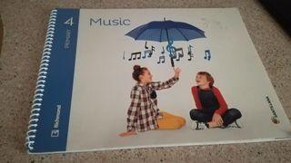 libro music 4 primaria impecable
