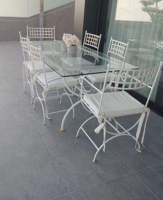 Conjunto mesa jardin