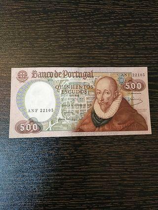 Billete de Portugal. 500 escudos.