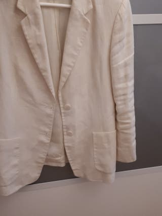 blazer americana lino zara