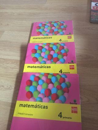 Libros de matemáticas de cuarto primaria