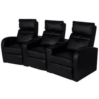 vidaXL Sillón reclinable de 3 plazas 242002
