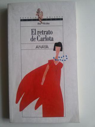 """Libro """"El retrato de Carlota"""". 1º ESO"""