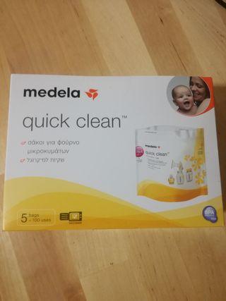 bolsas para esterilizar Medela, en su caja