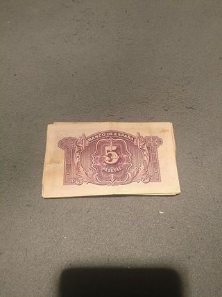 Billetes de Pesetas antiguos .