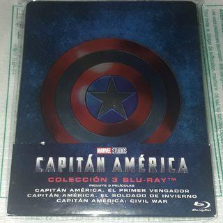 Trilogía Capitán América Steelbook Bluray