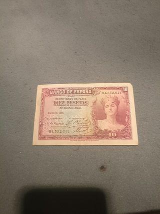 Billetes de Pesetas antiguas.