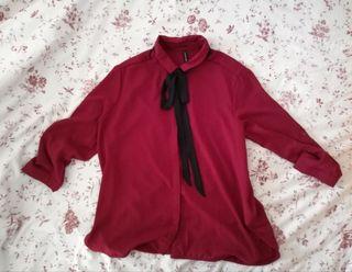 Camisa con lazo menstyle