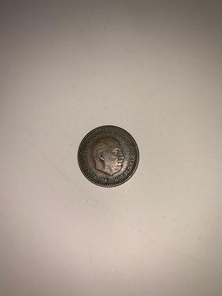 Moneda 1 peseta de 1947 * 48