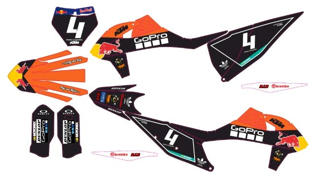 PEGATINAS KTM 2019 sx,sxf exc