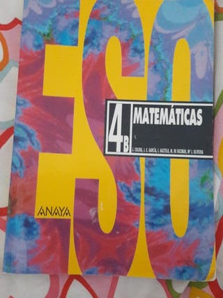 Libro matemáticas 4°ESO ANAYA