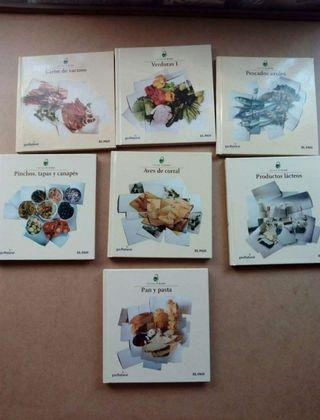 Lote 7 libros de cocina