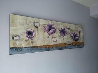 Cuadro en tonos morados con flores