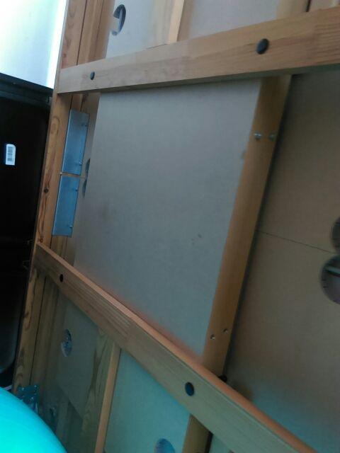 Mesa madera Ikea marrón 84*140 alargable