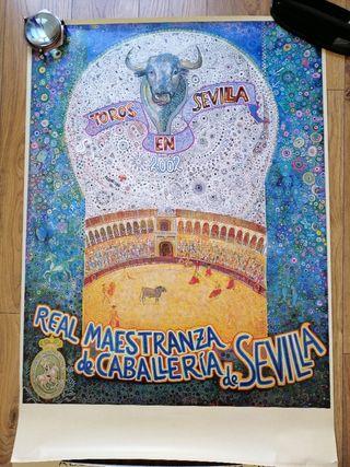 Cartel de toros antiguo Sevilla