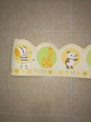 cenefa infantil de papel para pared