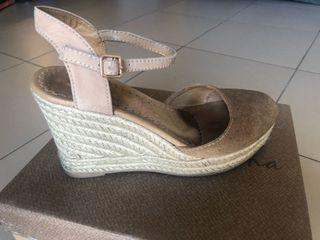 Zapatos Cañamo-piel Color Camel