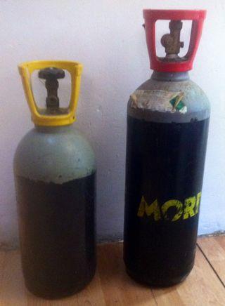 2 bombonas de gas para cerveza