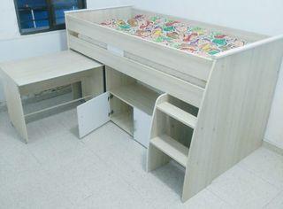 Cama escritorio niño