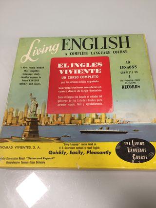 Curso de inglés en vinilo