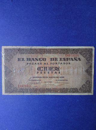 100 pesetas de 1938