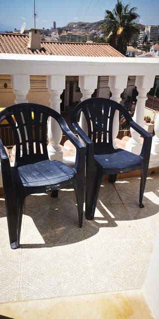 dos sillas jardín