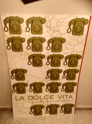 Poster de vinilo de teléfonos antiguos decorativo