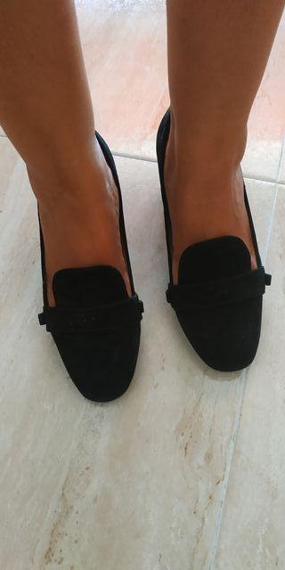 zapatos tacón ancho medio