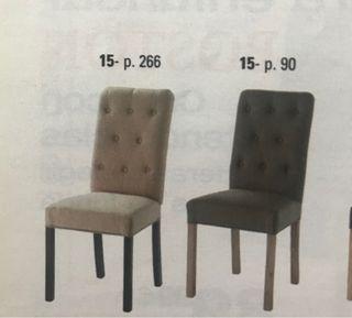 Sillas lino capitoné(4 sillas)