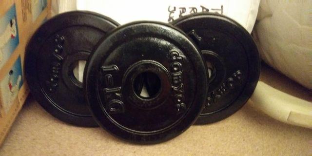pesas de 1kg entrenamiento