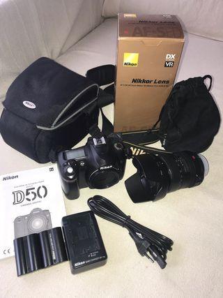Cámara fotos Nikon D50 + objetivo Nikon 18 200 VR