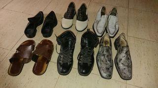 6 pares de zapatos. tallas 42 y 43.