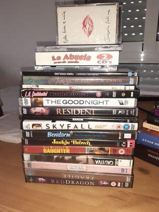 DVD, CD y CASSETTES. disfruta la musica