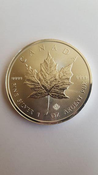 1 Onza de plata pura. Canadá 2019.