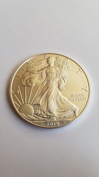 1 Onza USA 2019 plata pura.