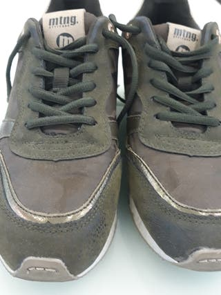 vendo zapatillas mtg. de color verde militar semin