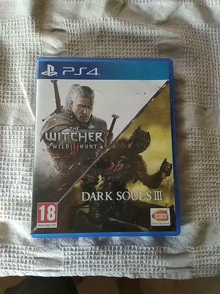 Dos Juegos PS4 Witcher y Dark Souls
