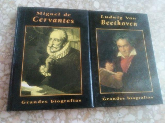 Biografias de Cervantes y Beethoven.