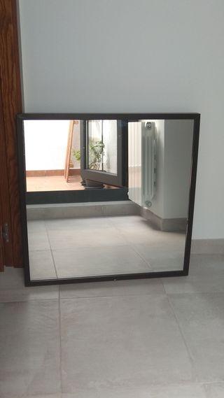 Espejo pared 70x70 cm marco negro