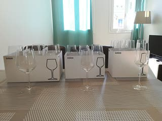 Ikea IVRIG copas vino tinto, blanco y cava
