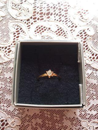 anillo chapado oro