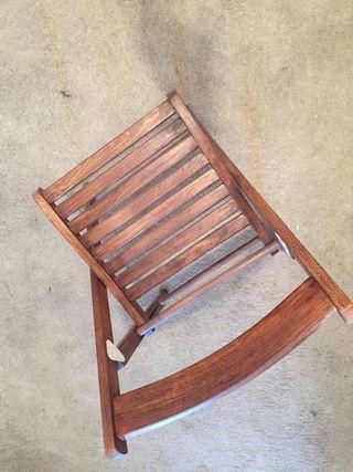 6 sillas plegable de madera