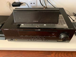 Amplificador YAMAHA RX V365 + 5 altavoces KENWOOD