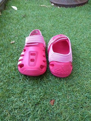 Zapatos zueco niña Adidas talla 24 de segunda mano por 8