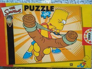 Puzzle Bart Simpson 100 piezas, 28x40 cm