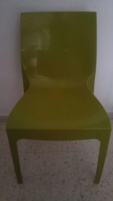 silla de plastico